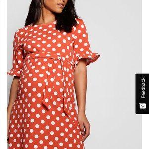 Boohoo Polka Dot maternity and non-maternity dress